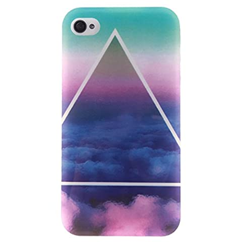 Coque Apple iPhone 4 / 4S, Coffeetreehouse Housse Etui Protection Full Silicone Souple Ultra Mince Fine Slim pour Apple iPhone 4 / 4S, Apple iPhone 4 / 4S Étui en TPU silicone - De sombres nuages
