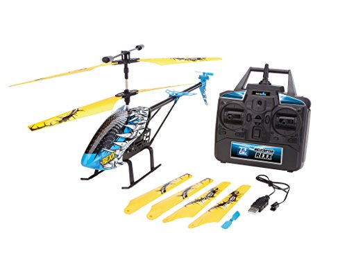 Revell Control 23868 - RC Helikopter, Großer Ferngesteuerter Hubschrauber für Einsteiger, 2,4 GHz Fernsteuerung, einfach zu fliegen, Gyro, Hochwertiges, eloxiertes, Stabiles Metall-Chassis - Rexx
