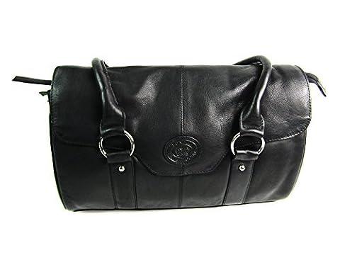 London Leather , Sac femme - - Black ,Tan,
