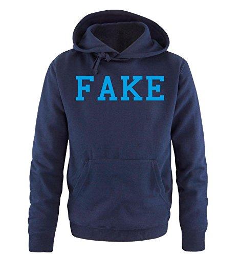 Bart Fake Besten (Comedy Shirts - FAKE - Herren Hoodie - Navy / Blau Gr.)