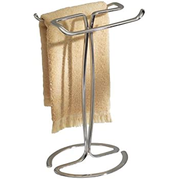 InterDesign Axis Freestanding Towel Rack/Holder/Stand For Bath And Hand  Towels, Made