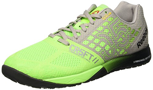 Reebok - R Crossfit Nano 5.0, Sneaker Uomo Verde (Solar Green/Tin Grey/Black/Shark)