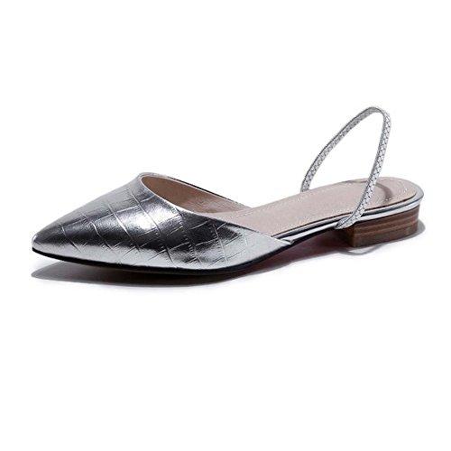 Cuir Pointe Toe Simple Glisser sur Des sandales Grande taille Pouvez Être Personnalisé Appartements Danse Mariage Chaussures