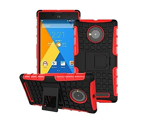 Gioiabazaar Bumper Case Composite Hard Dual Armor TPU with Stand For YU Yuphoria YU5010A Red