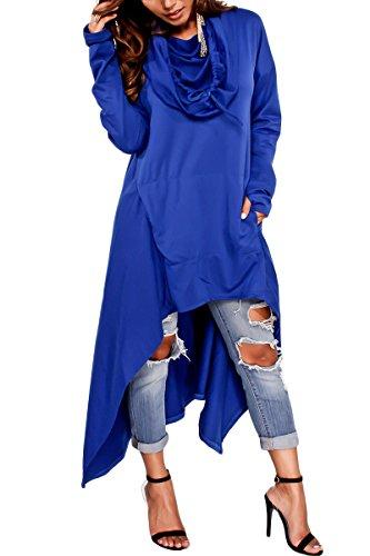 Dunkelgraue Sweatshirts (Bai You Mei Damen Kaputzenpullover Hoodie Pullover Frühling Herbst Sweatshirt Langärmelig Kaputzen Outerwear Blau 38)