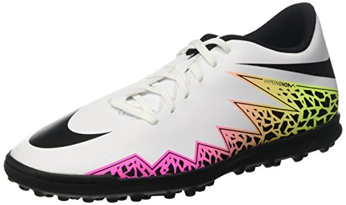 Nike Hypervenom Phade II Tf, Scarpe da Calcio Uomo, Multicolore (White/Black/Total Orange/Volt), 42 EU