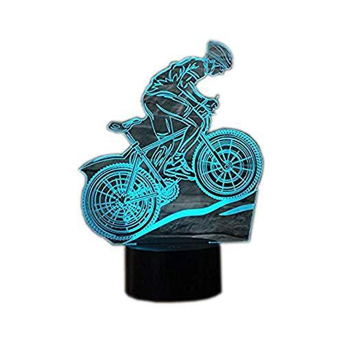 Wangzj 3d illusion lampe/weihnachtsgeschenk nachtlicht/tischlampe/schreibtisch dekoration lampen/geburtstag weihnachtsgeschenk /mountainbike