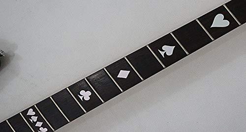 Poker Set Fret Markers Stickers Inlay Guitarra & Bass Pegatinas Diapason Guitarra (plata)