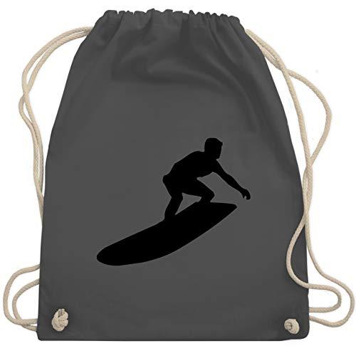 Wassersport - Surfer Silhouette - Unisize - Dunkelgrau - WM110 - Turnbeutel & Gym Bag