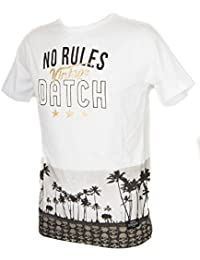 Datch T-Shirt Uomo Girocollo Maglietta Manica Corta Cotone Logo No Rules  articol c516cb74932