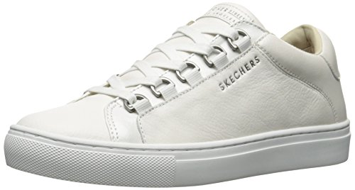 Skechers Damen Side Street - Core-Set Sneaker, Weiß (White Wht), 41 EU (Schuhe Skechers Damen White)