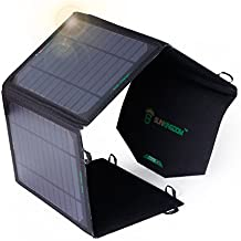 SUNKINGDOM 26W cargador solar USB de 2 puertos cargador de panel solar portátil para iPhone 6S Plus, iPad Air / mini, Samsung Galaxy S7 Edge y más