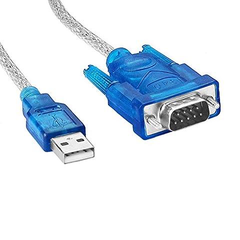 Sienoc USB vers RS232 DB9 série 9 broches câble adaptateur pour PC GPS PDA • Windows 98/Se/ME/2000/XP/Vista 32