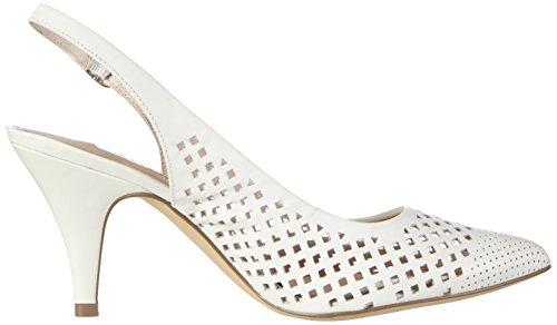 Tamaris - 29603, Scarpe col tacco con cinturino a T Donna Bianco (White 100)