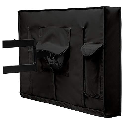 HYDT Möbelsets Staub Möbelabdeckung für TV, LED, LCD Die meisten Größen, Schwarz 600D Oxford Tuch wasserdichte Abdeckung mit transparenter Folie (Size : 36-38 inch) (36 Led Zoll Tv)