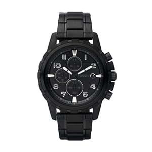 Fossil Herren-Armbanduhr Dress Schwarz Ip Quarz Analog Fs4646