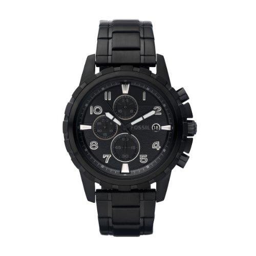 Fossil Herren-Armbanduhr Dress Schwarz Ip Quarz Analog Fs4646 (Schwarz Stahl Armbanduhr Fossil)