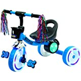 Luusa Tricycle Mission Bike For Kids With LED Light In Wheels ( Blue)