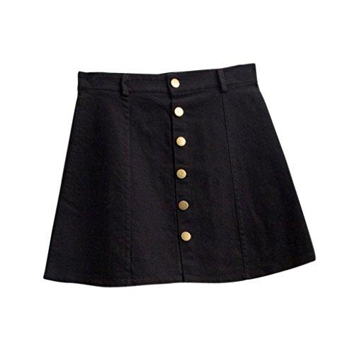 Koly_Stile denim vita del pannello esterno coreano di moda per donna (S, (Ragazze Lungo Pannello Esterno Del Denim)