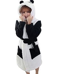 Peignoir Eponge a Capuche Femme Homme Couple Pyjama Animaux Manteau de Bain Mignon Robe de Chambre Manche Longue Vêtements de Nuit Fantaisie Animal Cosplay Costume Bathrobe Nightgown -Landove