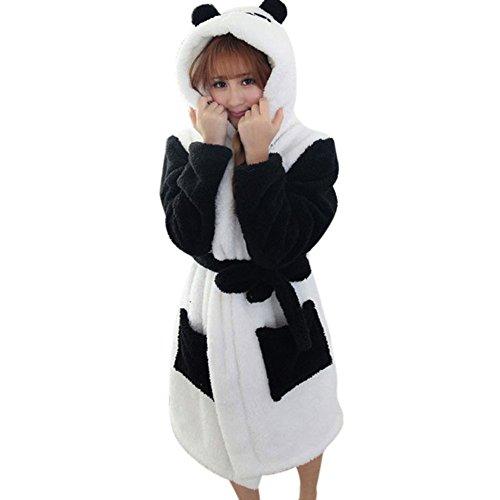 Landove Peignoir Eponge a Capuche Femme Homme Couple Pyjama Animaux Manteau de Bain Mignon Robe de Chambre Manche Longue Vêtements de Nuit Fantaisie Animal Cosplay Costume Bathrobe Nightgow