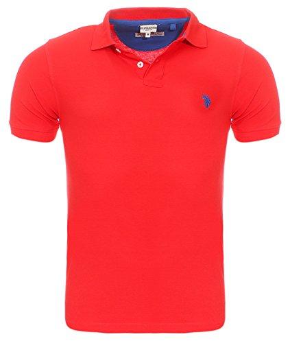 U.S. POLO ASSN. Shirt Herren Poloshirt Polohemd Rot 197 42607 51887 155 , Größenauswahl:XL