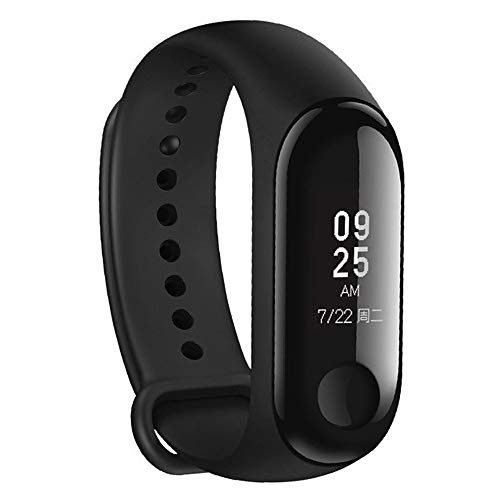 Sunny Key smartwatches 3 Fitness Tracker Heart Rate Monitor 0.78'' OLED Display Touchpad Bluetooth 4.2 Android IOS:Black