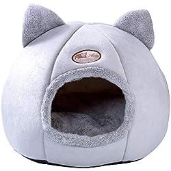 carol -1 Semi-Fermé l'hiver Panier Coussin Chaud Kennel Les Loisirs Peluche Élastique Dormir Confortable Lit pour Animaux Chien Chat