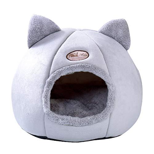 byeel Katzenhöhle Katzenbett mit Super Weichem Flauschigem Innerkissen Katzenzelt Katzenkorb zum Schlafenfür Katzen, Kleintiere oder Welpen
