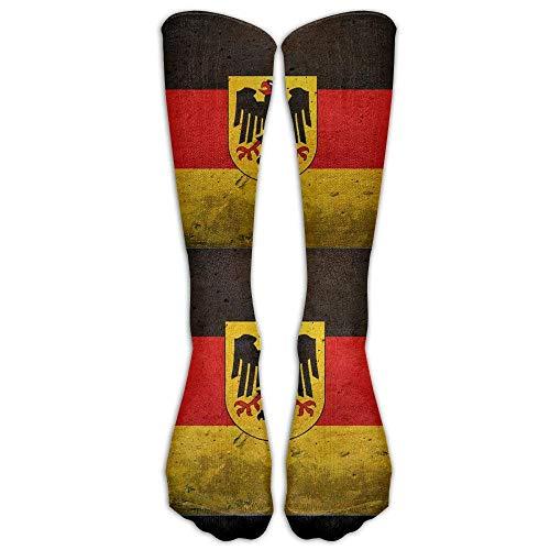 Deutsche Flagge mit dem deutschen Adler Casual Unisex Socken Knie Lange Hohe Socken Sport Athletic Crew Socken One Size