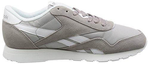 Reebok Herren Classic Nylon Sneaker Grau (Whispher Grey/ White)