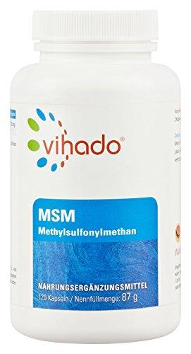 Vihado MSM 1200 Methylsulfonylmethan - hochdosierte reine Premiumqualität, 120 Kapseln, 1er Pack (1 x 87 g)