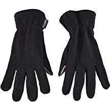 WM Pile tocco caldo dello schermo guanti, antivento e acqua Guanti resistenti, inverno freddo caldo (Guanti Moto Meteo Pelle)
