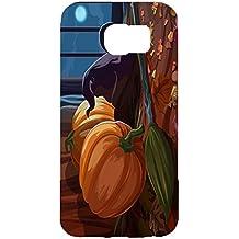 Amusing Witch Cartoon Scene Halloween Pumpkin Hardshell 3D Phone Case For Samsung Galaxy S6