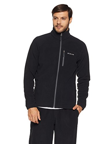 Columbia Fast Trek II Full Zip Fleece Chaqueta Polar, Hombre, Negro (Black), M