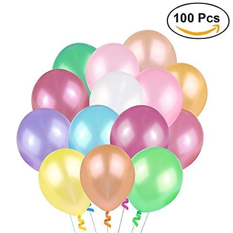 NUOLUX Luftballons, Latexballon, 100pcs 3.2g Geburtstags-Hochzeits-Ballone, Qualität, Mischungs-Farbe