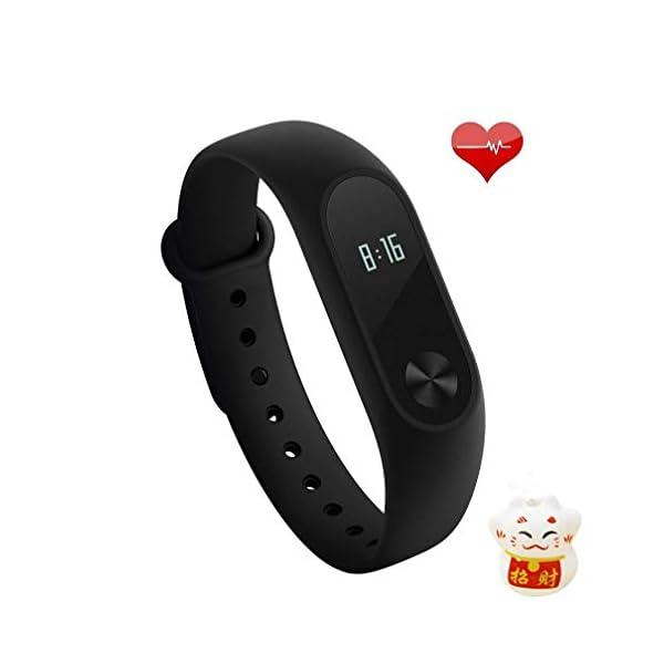 Xiaomi Mi Band 2 Fitness Smartband, Pulsera de actividad, con monitor de ritmo cardíaco, color Negro 1