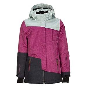 Killtec Mädchen Baha Jr Skijacke / Funktionsjacke mit abzippbarer Kapuze und Schneefang