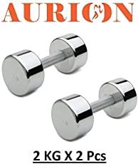 Aurion T2 Steel Dumbell Set, 4Kg (Black)