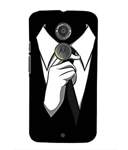 For Moto X2 -Livingfill- Gentle Man Choice Printed Designer Slim Light Weight Cover Case For Moto X2 (A Beautiful One of the Best Design with a Classic Theme & A Stylish, Trendy and Premium Appeal/Quality) (Red & Green & Black & Yellow & Other)