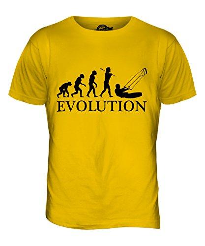 CandyMix Kitesurfen Evolution Des Menschen Herren T Shirt Dunkelgelb