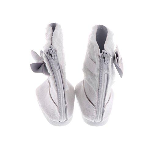 Sharplace Adorable Zapatos de Planos de Manera de Bowknot para 18 Pulgadas Americana Muchacha Doll - Blanco