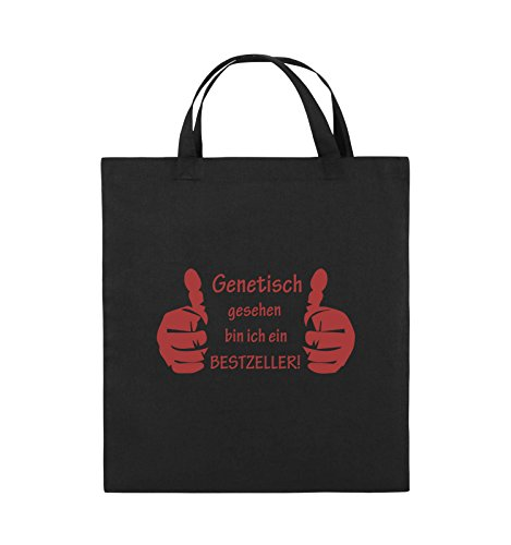 Genetisch Schwarz 38x42cm Jutebeutel Farbe kurze Henkel HÄNDE Pink Rot Bags BESTZELLER Comedy Schwarz ZxPS55