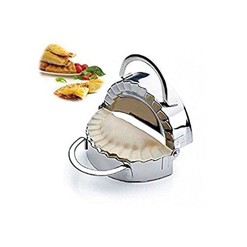 Nuevo acero inoxidable molde para raviolis (envoltorio dumpling Maker Mold pierogie pie crimpadora Pastry masa prensa cortador cocina Gadgets (3,5pulgadas)