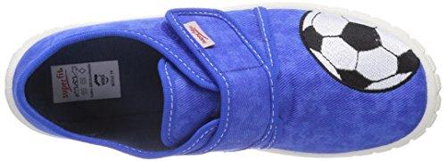 Superfit BILL 400273, Jungen Flache Hausschuhe Blau (BLUET 84)