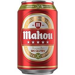 Cerveza Mahou 5 Estrellas Sin Gluten Lata - 330 ml