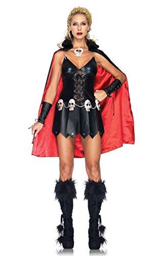 Womens Krieger Kostüm - Leg Avenue 83990 - Warrior Woman Kostüm, Größe M/L, schwarz