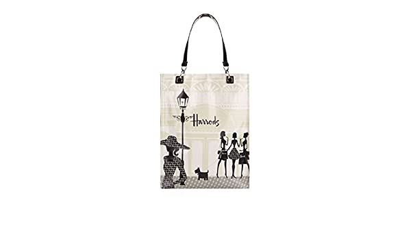 harrods Medium Knightsbridge Shopping Shopper Bag Borsa a mano in PVC con fodera in poliamide chiusura borsa con cerniera e taschino interno con zip ID 5187648