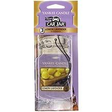 Yankee Candle 1137673E Pack de 3 Diffuseurs senteur Citron Lavande pour Voiture Carton Violet 7,8 x 19,7 x 1,7 cm