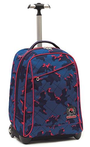 Invicta School 206001625-550 Trolley Zaino, Spallacci a Scomparsa, 35, litri, Poliestere, Blu